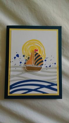Sailboat card Sale On, Sailboat, Frame, Cards, Etsy, Home Decor, Sailing Boat, Homemade Home Decor, Sailboats