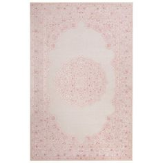 Shop for Everyly Medallion Pink/ White Area Rug (5' X 7'6