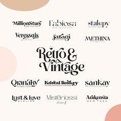 Custom Logo Design, Custom Logos, Vintage Fonts, Retro Vintage, Boho Fonts, Lashes Logo, Boutique Logo, Branding, Script Logo