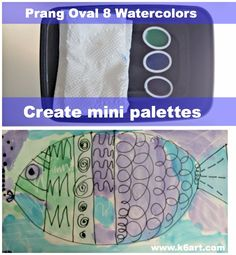 use the watercolor refills to make mini palettes when using a limited color scheme