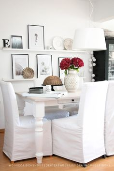 HOUSE of IDEAS dining area http://myhouseofideas.blogspot.de/2014/08/zwetschgenkuchen-ciasto-ze-sliwkami.html
