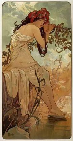 252 Piece Puzzle. Summer, 1896. Artist: Alphonse Mucha