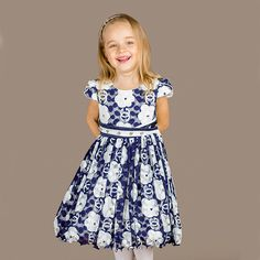 28032d742 Click to Buy << 2017 Autumn girls dress Europe fashion kids Puff sleeve  dress 3-12 year roupas infantis menina D3102 #Affiliate