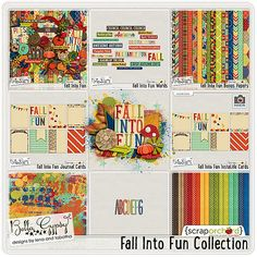 Fall Into Fun Collection by Bella Gypsy Designs!  Save big when purchasing the collection, or buy any items shown within the collection and save 20% off for a limited time! #digitalscrapbooking #bellagypsydesigns