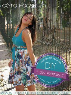 Como hacer un vestido premama sin patrón #DIY #costura