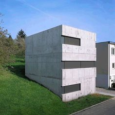A concrete home near Stuttgart, Germany, that can be sealed with sliding screens is next up in our Instagram roundup of popular German homes. See more of Germany's residential architecture on dezeen.com/tag/german-houses #architecture #Germany #houses