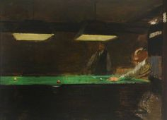 ruskin spear(1911–90), snooker. oil on canvas, 40 x 53 cm. doncaster museum service, uk http://www.bbc.co.uk/arts/yourpaintings/paintings/snooker-69108
