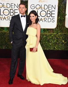 Golden Globes 2015 Red Carpet Arrivals | Channing Tatum ('Foxcatcher') and Jenna Dewan