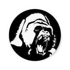 Gorilla Face Drawing Mean Gorilla Face Drawing Cool