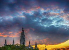 City Hall Sunset Vienna
