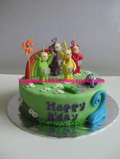 Kupkui Cakes: teletubbies cake: happy birthday akbar