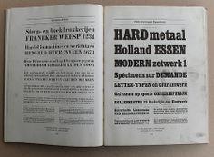"Type specimen Lettergieterij ""Amsterdam"". Very rare ..."