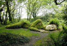 sleeping goddess at the lost gardens of heligan