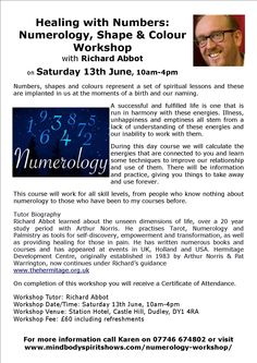 Healing With Numbers: Numerology, Shape and Colour Workshop