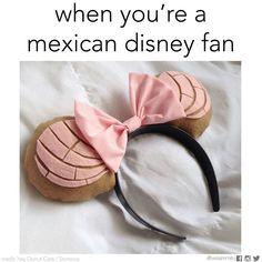 Mexican humor, disney fan, conchas