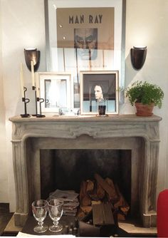Inspiring mantle and fireplace styling