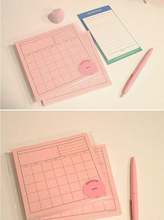 Kawaii Monthly Diary / Pink Monthly Memo pad / Compact Size /