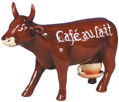 Cafe au Lait   CowParade Cows Figurines   FREE SHIPPING Promotion! Coffee Cow, Cow Parade, Musk Ox, Cow Art, Public Art, Animals Beautiful, Sculpture Art, Pony, Street Art
