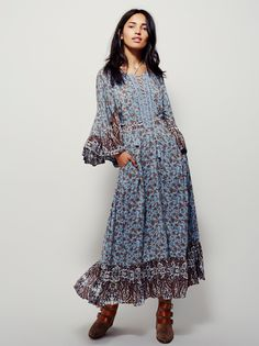 Oh Free People, with your fabulous dresses & hideous shoes. All Mixed Up Printed Dress.