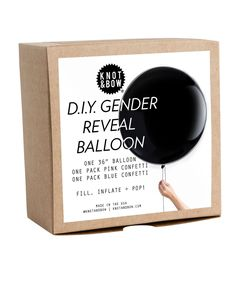 Knot & Bow D.I.Y. Gender Reveal Confetti Balloon