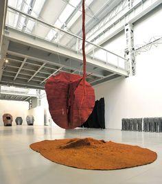 Magdalena Abakanowicz, Abakan Red (1969) and Orange (1971) on ArtStack #magdalena-abakanowicz #art