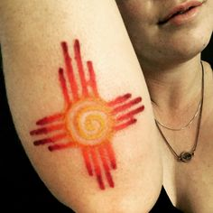 If lost return to New Mexico #zia #sun # tattoo