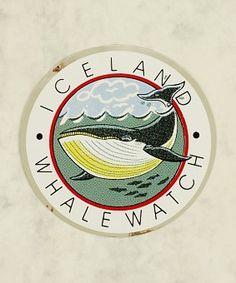 Sticker, Whale Watch, round