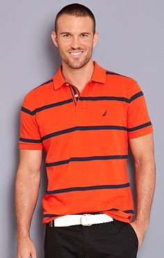 Men's Classic Stripe Polo - Nautica.com
