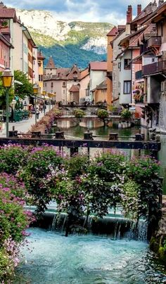 Beautiful Annecy canal in France