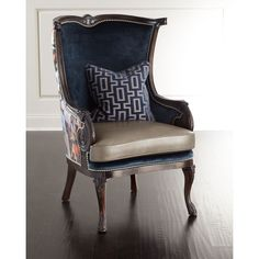 Peacock Chair Navy Accent U0026 Occasional Chairs (940 CAD) ❤ Liked On Polyvore  Featuring Home, Furniture, Chairs, Accent Chairs, Peacock Chair, Navy Bu2026