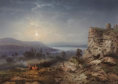 """Carlo Bossoli 1815-1884; """"view of the valley of Inkermann, 1855"""" watercolour and gouache, GBP6500"""