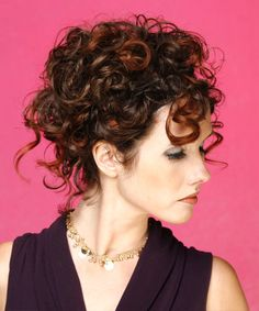 Updo Long Hairstyle - Curly Formal - Medium Brunette   TheHairStyler.com