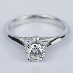 Another beautiful recently purchased ring! Would you wear this Designer Diamond Engagement Ring in White Gold?