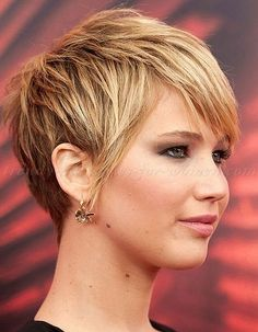 Jennifer Lawrence Short Haircut | Jennifer Lawrence pixie cut 2014