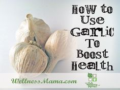 Garlic is a powerhouse herb that helps boost immune health, increase hair growth, prevent infection and reduce risk of certain cancers and heart disease. Wellness Mama, Health And Wellness, Health Tips, Health Benefits, Health Recipes, Health Foods, Diet Recipes, Herbal Remedies, Health Remedies