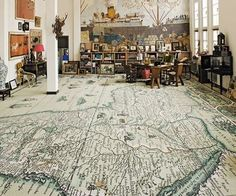 map it!  great idea for the floors