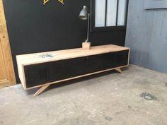 Meuble TV bois et métal, réalisé à partir dun ancien ...