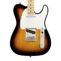 Fender American Standard Telecaster with Maple Fingerboard - 2 Color Sunburst with Case