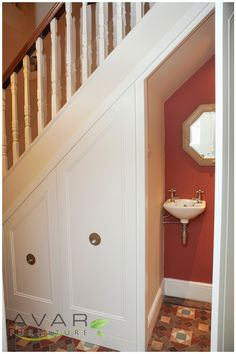 A space for everything. Bathroom under stairs idea. | For the Bath ...