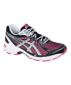 Take a look at this Hot Pink & Black GEL-Equation6 Running Shoe - Women by ASICS on #zulily today!