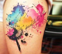 Image result for dandelion arm tattoo
