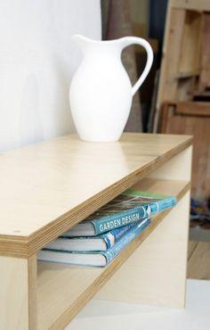 Plywood tv rack