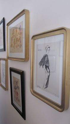 Ikea Odby frames spray painted gold    Rosa Beltran Design {Blog}: PICTURE FRAME SOURCE AND INSPIRATION