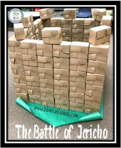 Joshua and the Battle of Jericho Song & ideas for preschool Preschool Bible Lessons, Bible Lessons For Kids, Bible Activities, Joshua Jericho Craft, Jericho Bible, Kids Church Lessons, Sunday School Lessons, Sunday School Crafts, Joshua Bible