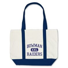Bowman Raiders Middle School Plano Texas Tote Bags