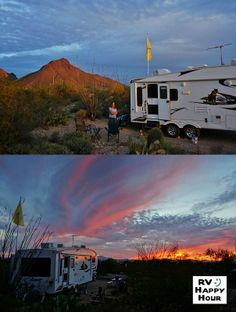 Another great desert sunset at our spot in Gilbert Ray Campground near Tucson, AZ tonight. Like this park so much we are going to stay the full week allowed. Activity | RVHappyHour.com
