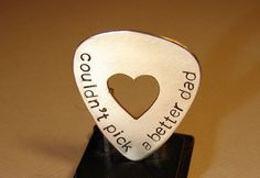 Could not pick a better Dad guitar pick in bronze - product images of>>what ur kids buy Luke for Father's Day