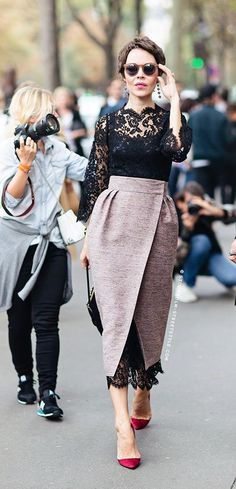 How to wear wrap skirts on dresses for fashion week