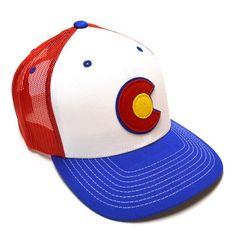 The Red Local Hero Appliqué C Trucker Hat