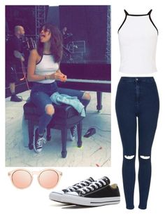 """Get the look: Selena Gomez"" by i-m-penguin-purple974 ❤ liked on Polyvore featuring Miss Selfridge, Topshop, Converse, GetTheLook, selenagomez, converse, topshop and selenator"